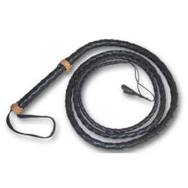 Black Leather Whip 260cm