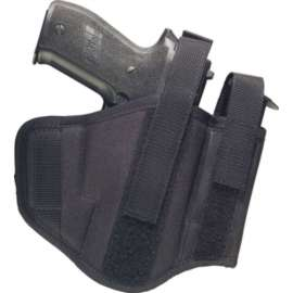 Ambidextrous Belt Holster with Integrated Magazine Case - 2 Loops
