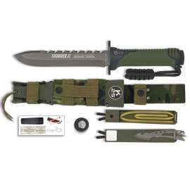 Thunder II Survival Knife - Khaki / Camo