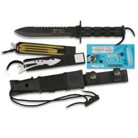 Combat King II Survival Knife - Black