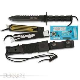 Couteau de Survie COMBAT KING II - Black