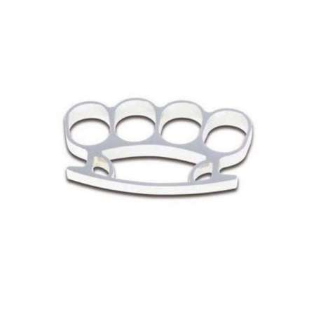 Bright Silver Brass Knuckles