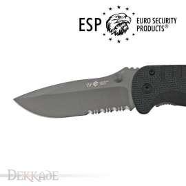 Couteau Tactique ESP avec Lame Crantée