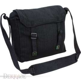 Military Cotton Canvas Satchel - Black