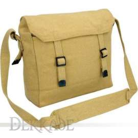 Military Cotton Canvas Satchel - Tan